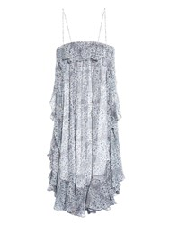 Zimmermann Empire Mist Print Silk Chiffon Dress