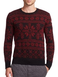 Moncler Snowflake Sweater Red Black