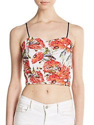 Clover Canyon Frederick Printed Crop Top