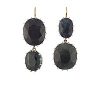 Renee Lewis Natural Sapphire Double Drop Earrings