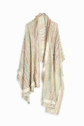 Missoni Lame Stripe Shawl Gold