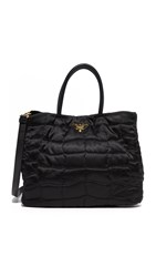 Wgaca Prada Quilted Tessuto Bag Previously Owned Black