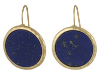 Lauren Ralph Lauren Summer Chic Stone Disk Drop Earrings Blue Gold Earring
