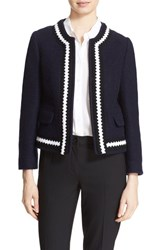 Helene Berman Women's Collarless Boiled Wool Blend Jacket