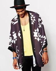 Jaded London Aztec Kimono Black