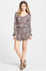 Billabong 'See The Sun' Romper Juniors Black Cherry