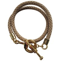 Catherine Canino Jewelry Equestrian Braided Cording Necklace Gold