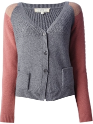 Vanessa Bruno Athe Colour Block Cardigan Grey