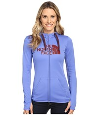 The North Face Fave Half Dome Full Zip Hoodie Stellar Blue Deep Garnet Red Women's Sweatshirt