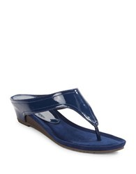 Kenneth Cole Reaction Great Leap Thong Sandals Navy Blue