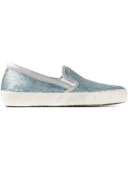 Philippe Model Sequin Embellished Slip Ons Blue