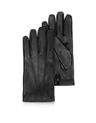 Moreschi Siberia Black Leather Men's Gloves W Cashmere Lining