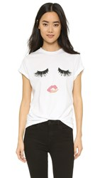 Sincerely Jules Lips And Lashes Tee White