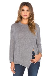 Inhabit Cashmere Mod Poncho Sweater Charcoal