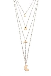 Forever 21 Layered Moon Charm Necklace