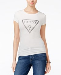 Guess Metallic Graphic T Shirt Scuffy