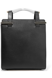 Charlotte Olympia Gable Textured Leather Tote Black