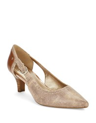 Circa Joan And David Clarity Leather Point Toe Pumps Bronze