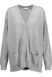 Sandro Girl Oversized Wool And Cashmere Blend Cardigan Stone