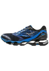 Mizuno Wave Prophecy 5 Cushioned Running Shoes Blue Depths Silver Black