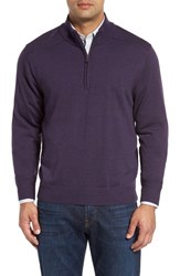 Cutter And Buck Men's Douglas Quarter Zip Wool Blend Sweater