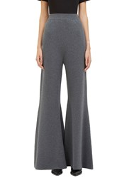 Stella Mccartney Wide Leg Flared Knit Pants Grey