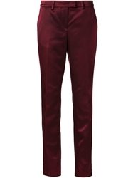Christopher Kane Crepe Trousers Red