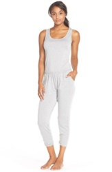 Spiritual Gangster Crop Tank Jumpsuit Heather Grey