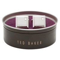 Ted Baker Golcuff Contrast Square Cufflinks Silver