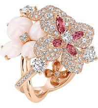 Chaumet Hortensia 18Ct Rose Gold Diamond Opal And Sapphire Ring