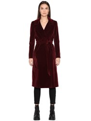 Tagliatore Long Cotton Velvet Coat
