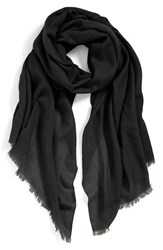 Women's Echo Solid Wool Wrap Black