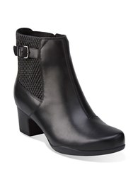 Clarks Leather Zipper Boots Black
