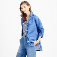 J.Crew Pre Order Collection Denim Pajama Shirt Jacket