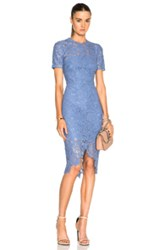 Lover Oasis Lace Dress In Blue