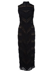 Cinq A Sept Panelled Fitted Dress Black