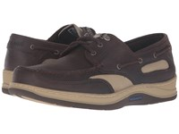 Sebago Clovehitch Ii Dark Brown Leather Men's Lace Up Casual Shoes