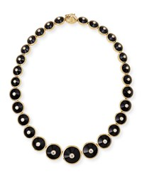 18K Pyramide Onyx And Diamond Necklace Maria Canale For Forevermark Black