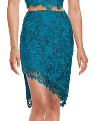 Guess Asymmetrical Lace Skirt Lagoon