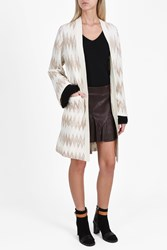 Missoni Zigzag Knit Cardigan Coat Black