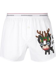 Dsquared2 Christmas Boxers White