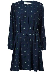 Vanessa Bruno Athe Geometric Print Shirt Dress Blue