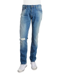 Guess Distressed Slim Straight Jeans Blue