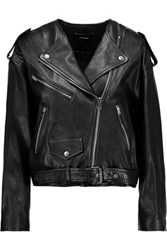 Isabel Marant Audric Leather Jacket Black