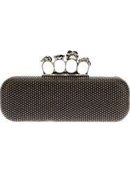 Alexander Mcqueen 'Knucklebox' Studded Clutch Black