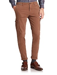 Eleventy Slim Stretch Cargo Pants Mocha
