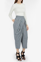 Monse Pinstripe Pleated Trousers Grey