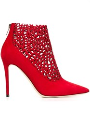 Jimmy Choo 'Maurice 100' Ankle Boots Red