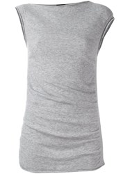 Joseph Cap Sleeve Jumper Grey