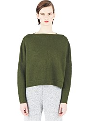 Lauren Manoogian Knitted Boat Neck Sweater Green